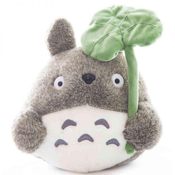 Totoro Plush with lotus leaf - ghibli.store