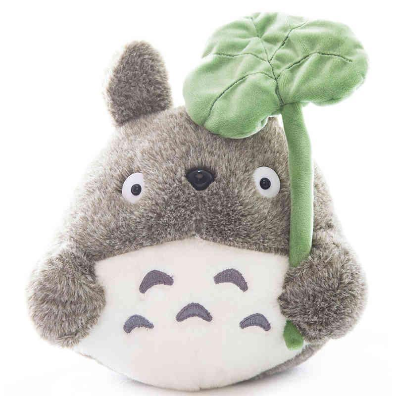 Totoro Plush with lotus leaf - ghibli.store
