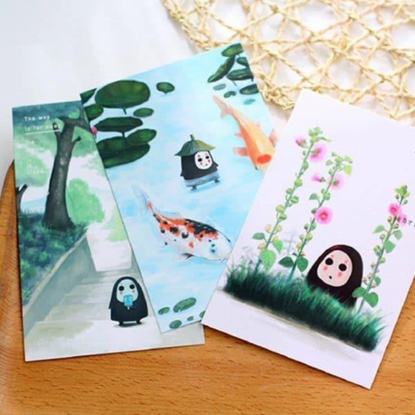 Spirited Away No Face Kaonashi Luminous Postcard 30 sheets/Set - ghibli.store