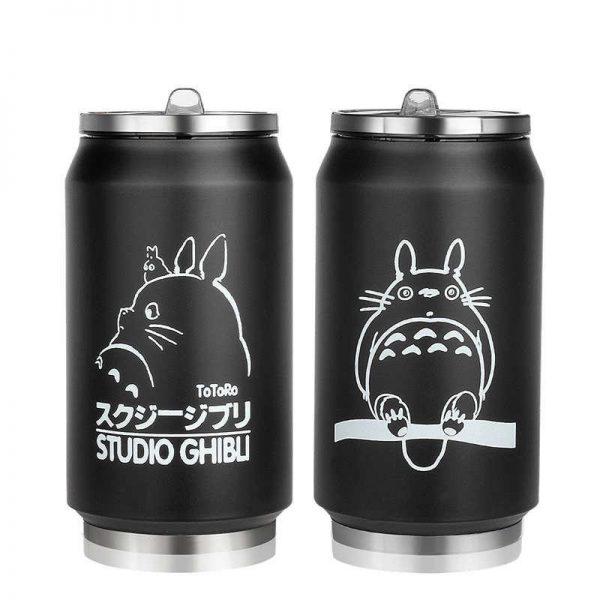 Totoro Black stainless steel Mug - ghibli.store