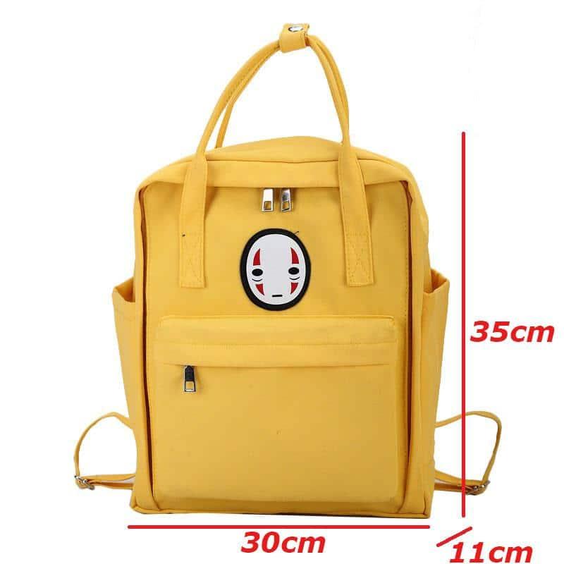 Kaonashi No Face Canvas Backpack 5 Colors - ghibli.store