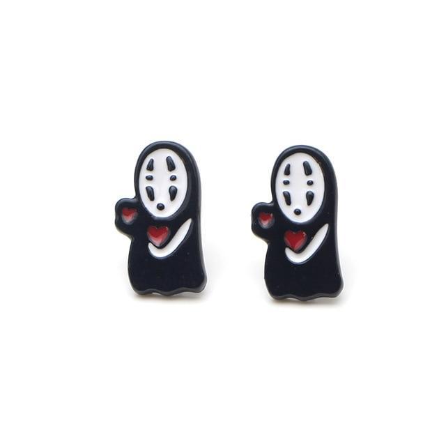 Kaonashi No Face cute Earrings - ghibli.store