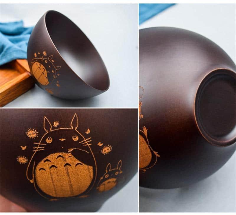 Totoro Mini Wooden Bowl Japanese Style - ghibli.store