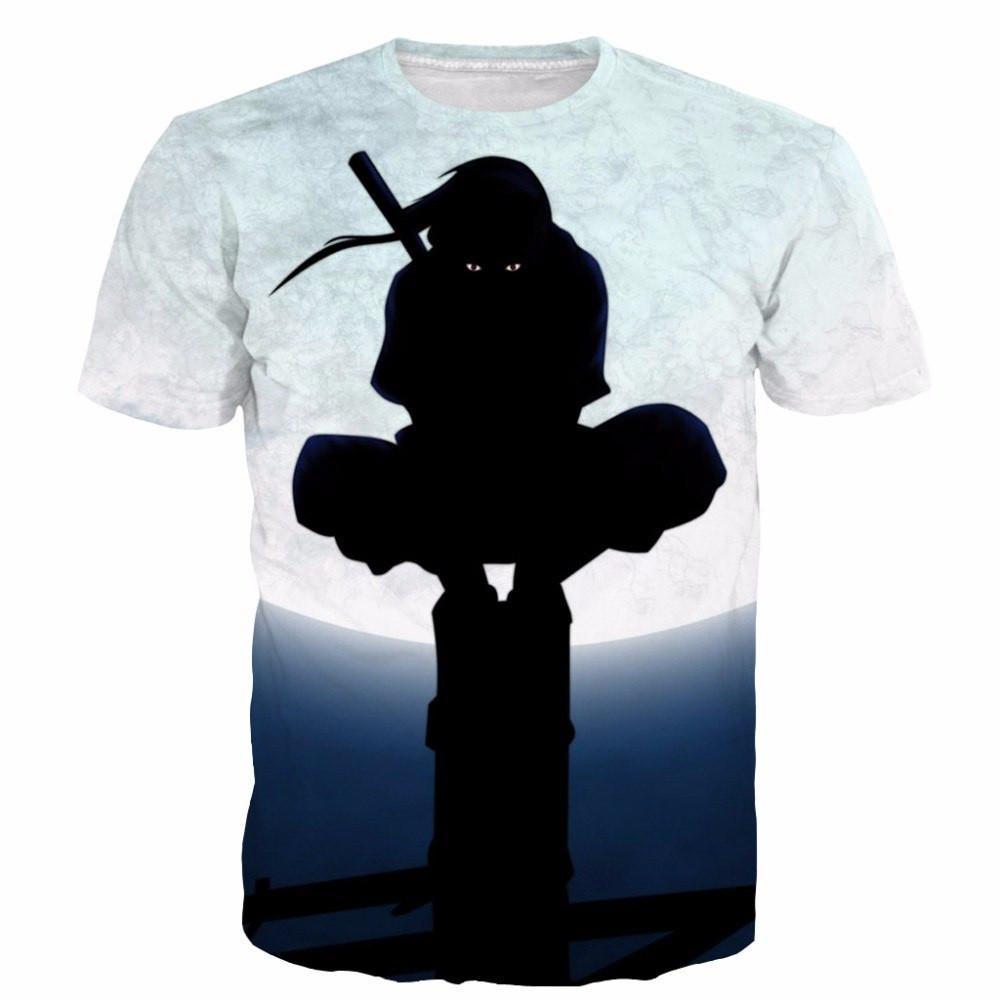 Uchiha Itachi - Moon Night 3D t shirt - ghibli.store