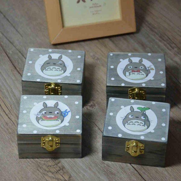 Totoro wooden music box - ghibli.store
