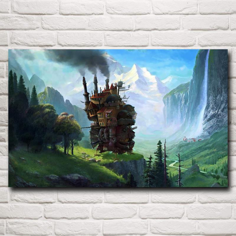 Howl's Moving Castle Silk Poster - ghibli.store