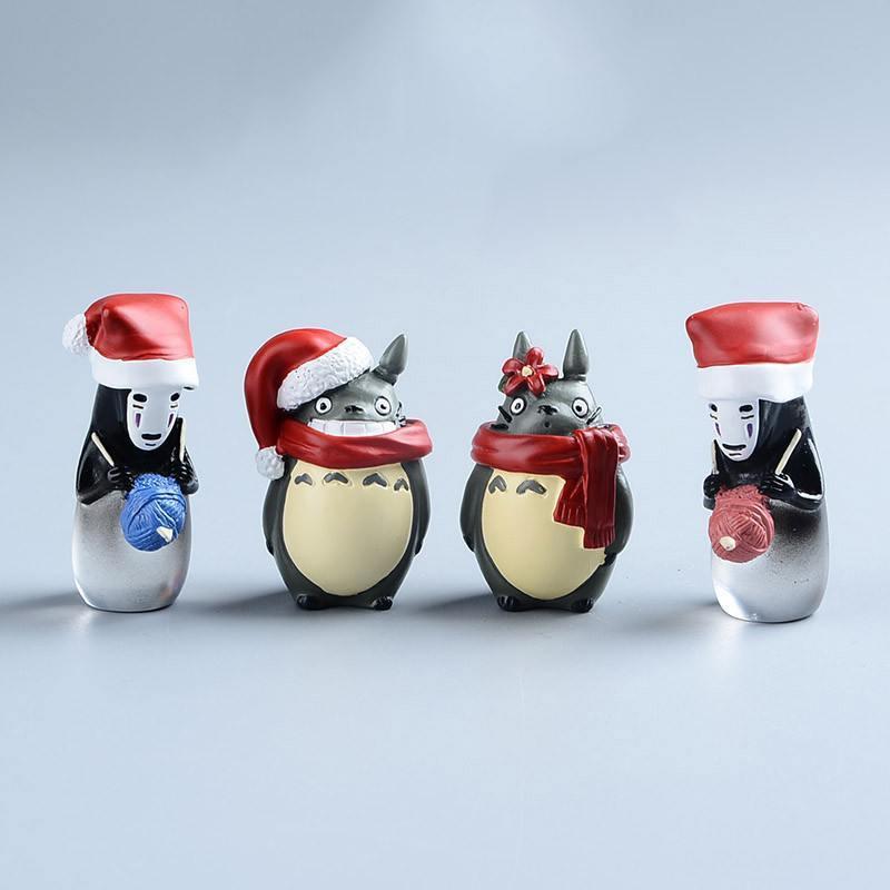 Totoro, Kaonashi Christmas Figure 4Pcs/set - ghibli.store