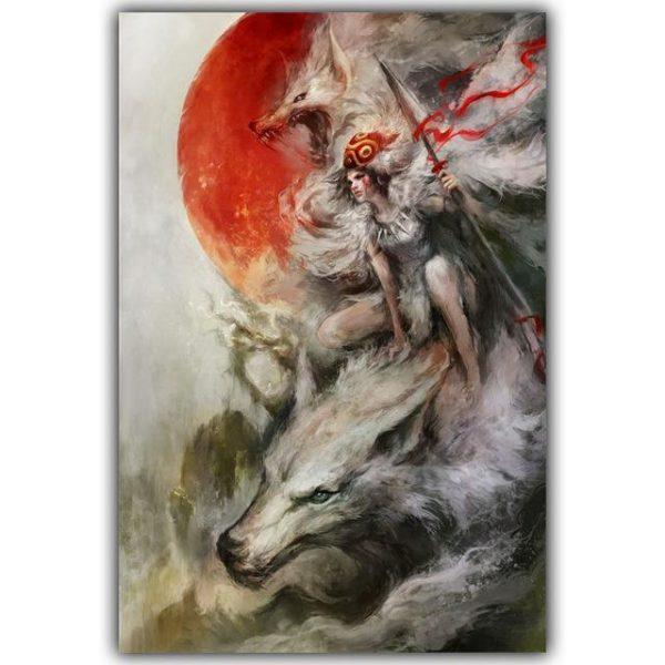 Princess Mononoke Spirited Away Silk Poster Canvas 8 Styles - ghibli.store