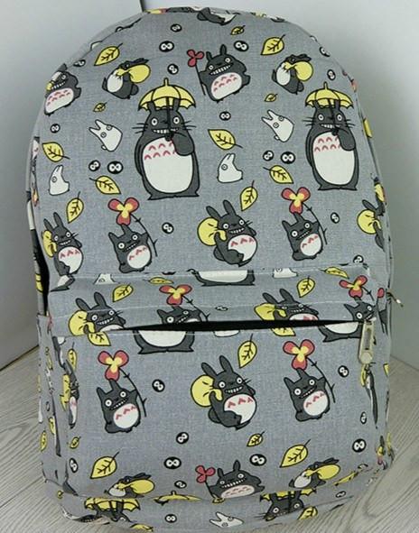 My Neighbor Totoro Printing Canvas Backpack - ghibli.store