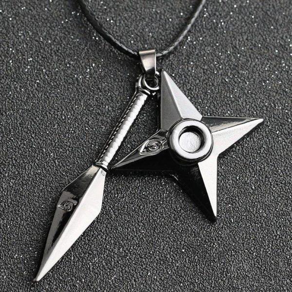 Naruto Kunai Shuriken Necklace - ghibli.store