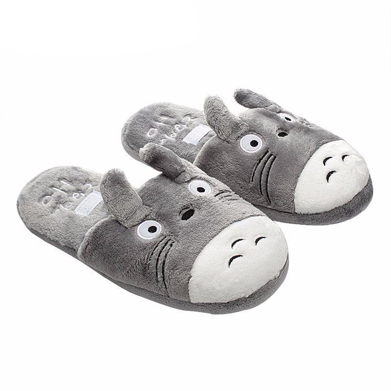 Totoro Slipper Gray 3 Types - ghibli.store