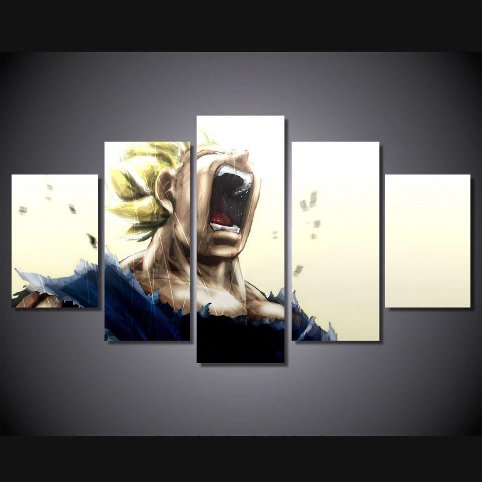 Dragon Ball Z Vegeta Super Saiyan Wall Picture - ghibli.store