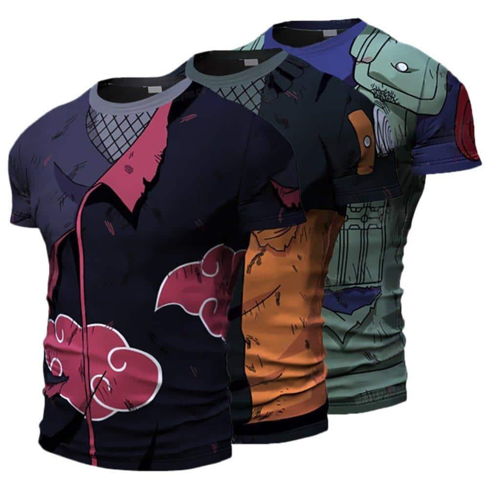 Naruto Kakashi Sasuke 3D T Shirt - ghibli.store