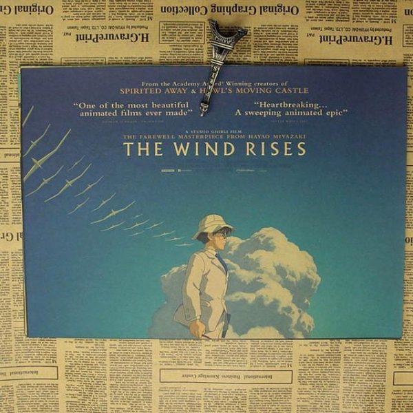 The Wind Rise Vintage Kraft Paper Posters - ghibli.store