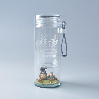 My Neighbor Totoro Landscape Inspired Portable Glass Water Bottle - ghibli.store