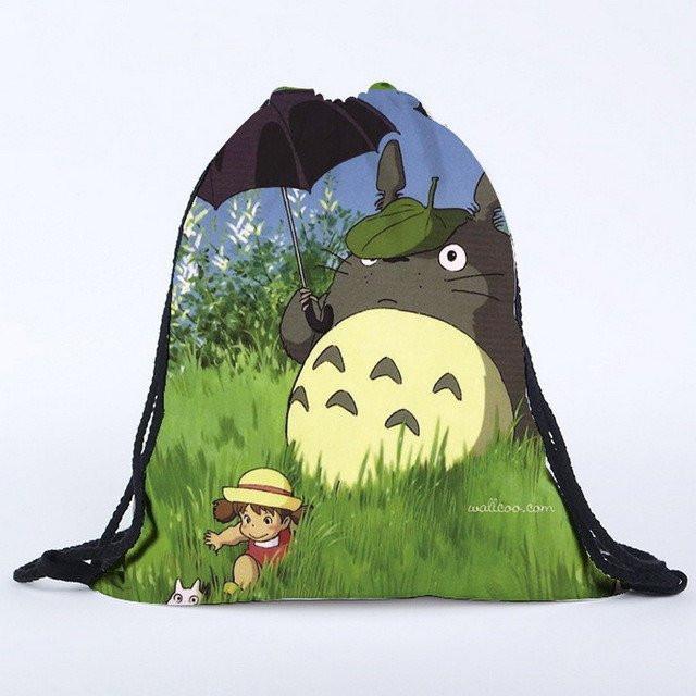 My Neighbor Totoro Drawstring Canvas Backpack 8 Styles - ghibli.store