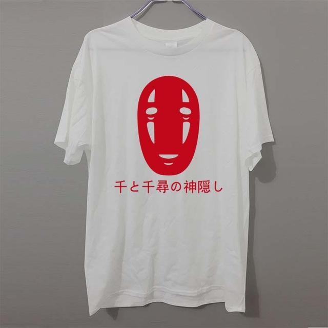 Spirited Away No Face Kaonashi Harajuku T Shirt - ghibli.store