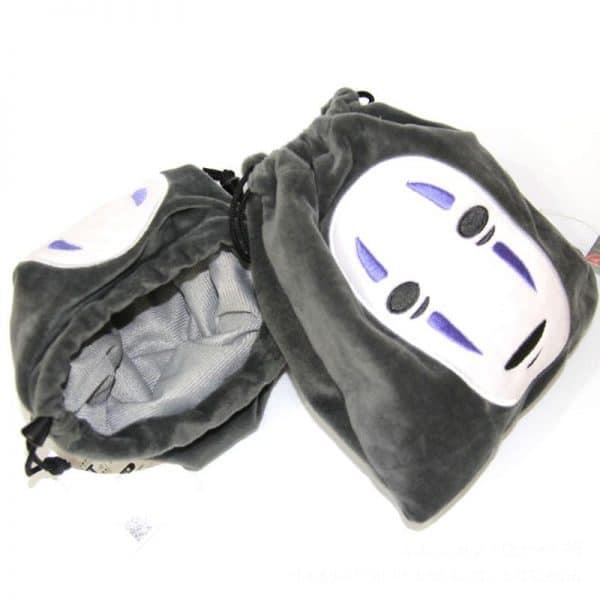 Spirited Away No Face Kaonashi Drawstring Bag 22X20cm - ghibli.store