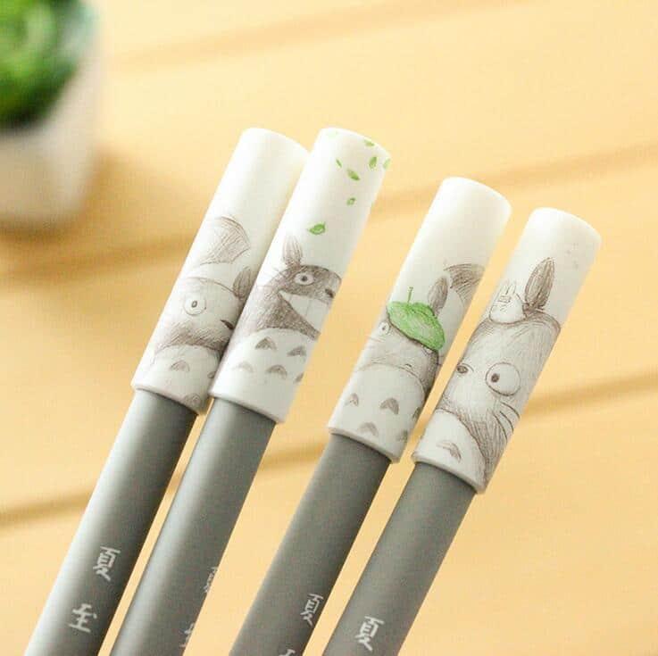 Totoro Cartoon Gel Ink Pen 4 pcs/lot - ghibli.store