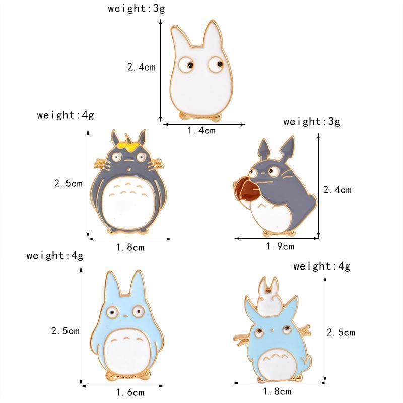 My Neighbor Totoro Pins 5pcs/set - ghibli.store