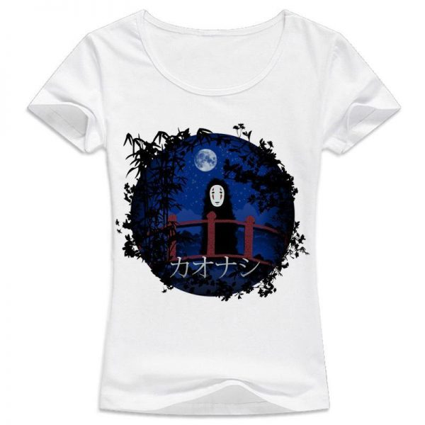 Spirited Away kaonashi Women Tshirt - ghibli.store