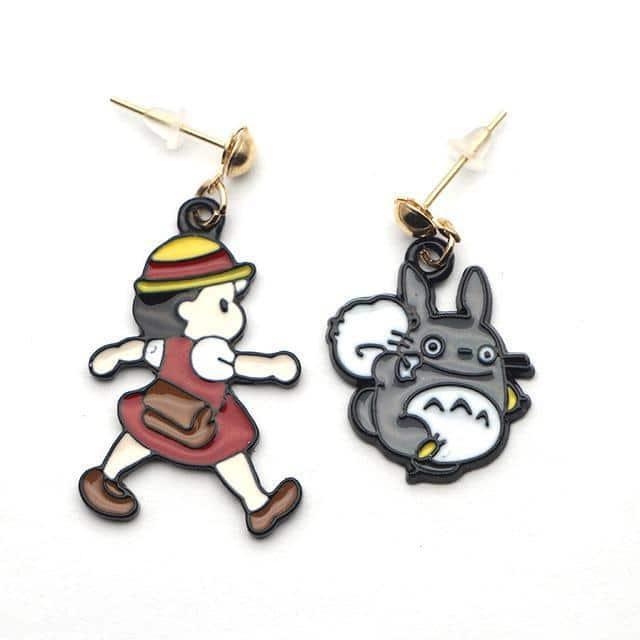 Spirited Away Totoro & Mei Earrings - ghibli.store