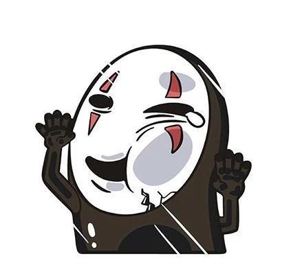 Kaonashi No Face Car Sticker - ghibli.store
