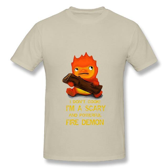 Howl's Moving Castle Calcifer T Shirt - ghibli.store
