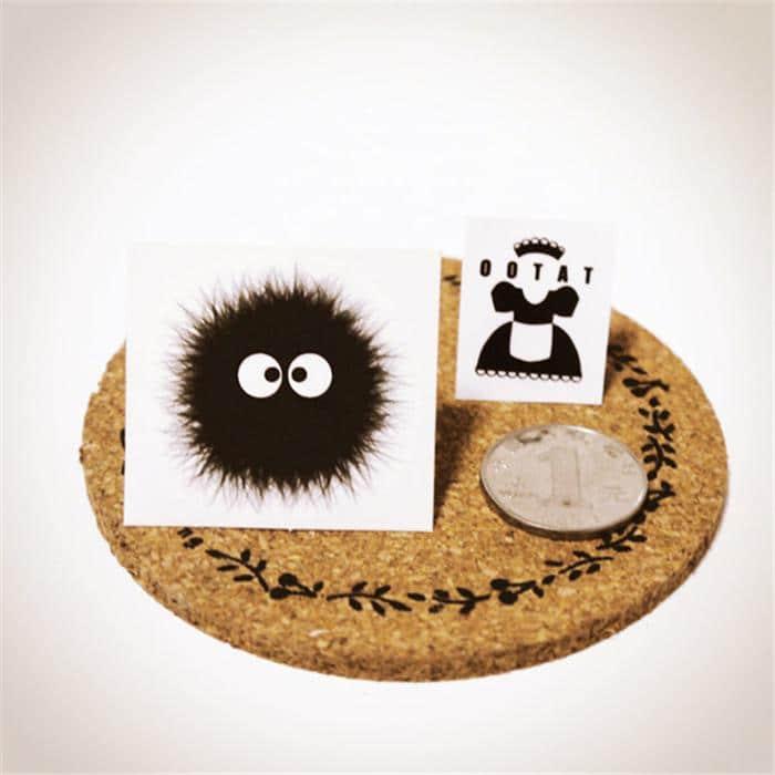My Neighbor Totoro Dust Bunny Susuwatari Sticker 2.8Cm - ghibli.store