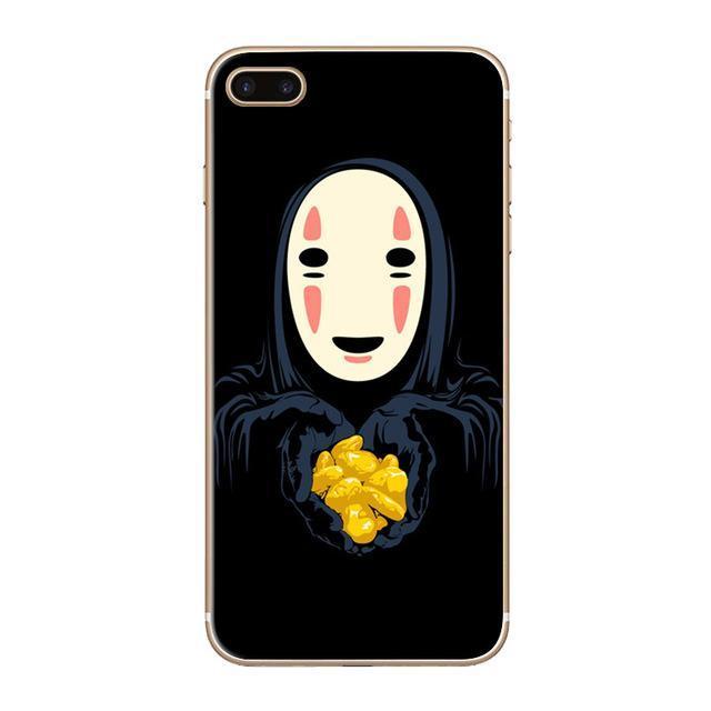 Spirited Away No Face Kaonashi Hard Phone Case For Apple iPhone - ghibli.store