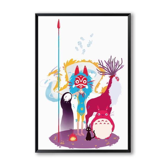 Studio Ghibli Canvas Wall Poster 3 Styles - ghibli.store