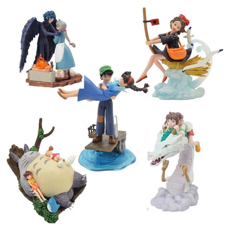 Studio Ghibli Figures 5pcs/lot 7.5-10.5CM - ghibli.store