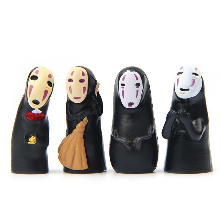 Kaonashi No Face Spirited Away Mini PVC Decoration Toy 4Pcs/lot - ghibli.store