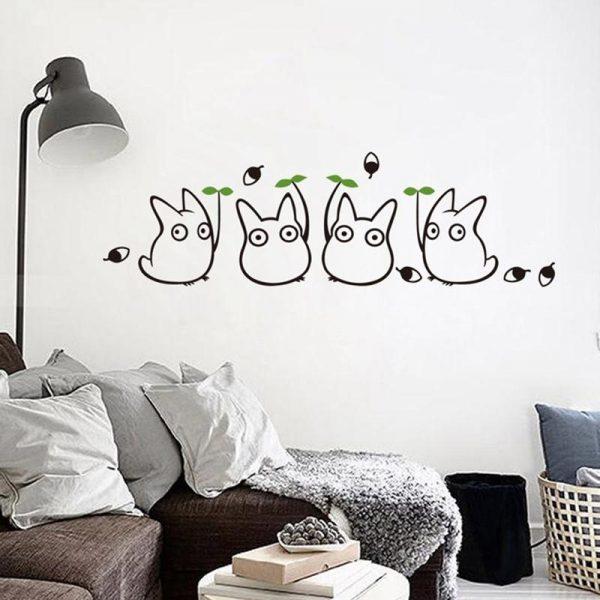 My Neighbor Totoro Cute Wall Decals - ghibli.store