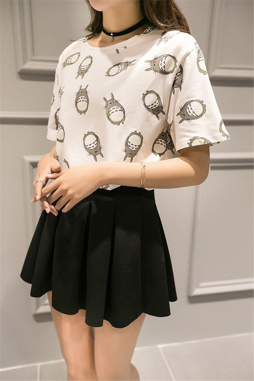 Totoro Print T Shirt For Women - ghibli.store