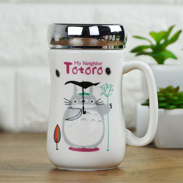 My Neighbor Totoro Ceramic Coffee Mug with Cap - ghibli.store