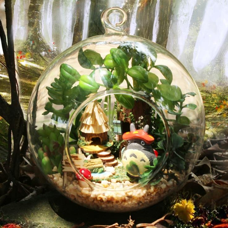 My Neighbor Totoro Cute DIY Glass Ball Doll House for Christmas Gift - ghibli.store