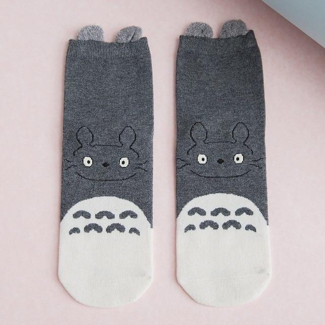 My Neighbor Totoro Socks with Fluffy Ears Harajuku Style 5 Colors - ghibli.store