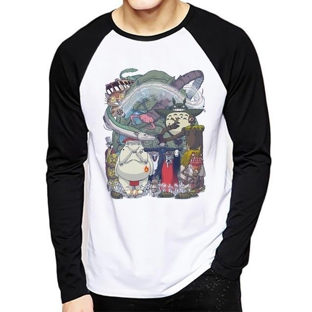 Studio Ghibli Long Sleeve Raglan T-Shirt 10 Styles - ghibli.store