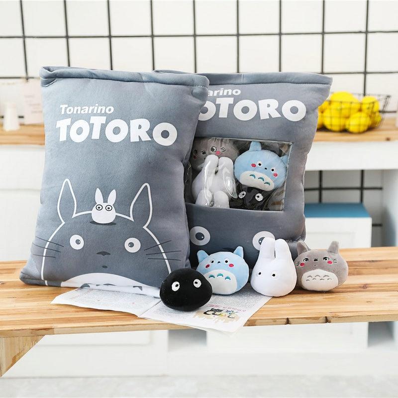 Totoro Family Stuffed Pillow Creative Gift - ghibli.store