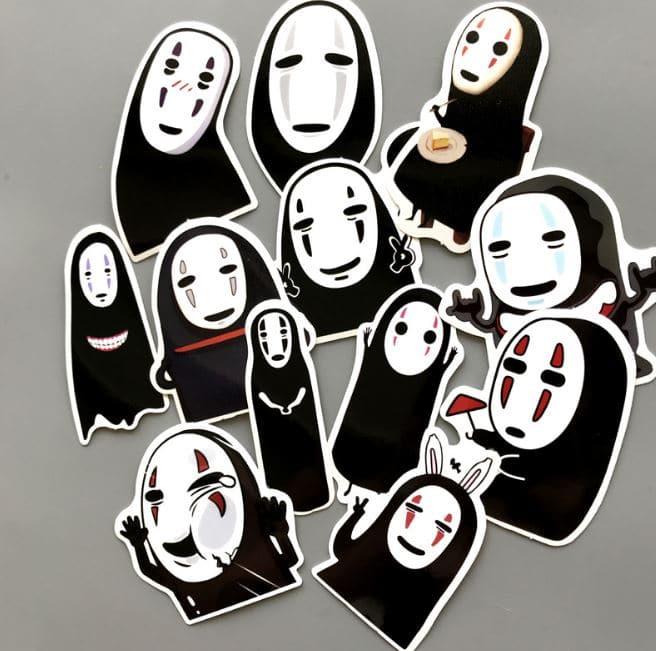 Spirited Away No Face Kaonashi Waterproof Stickers