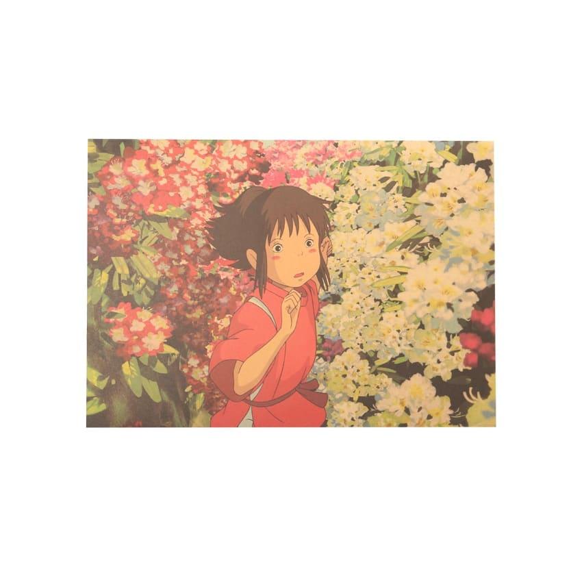 Spirited Away Chihiro Vintage Kraft Paper Poster