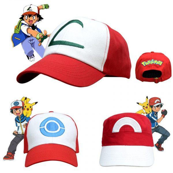 Pokemon Ash Ketchum Cosplay Caps 4 styles
