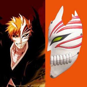 Bleach Kurosaki Ichigo Half Hollow Mask Halloween Cosplay