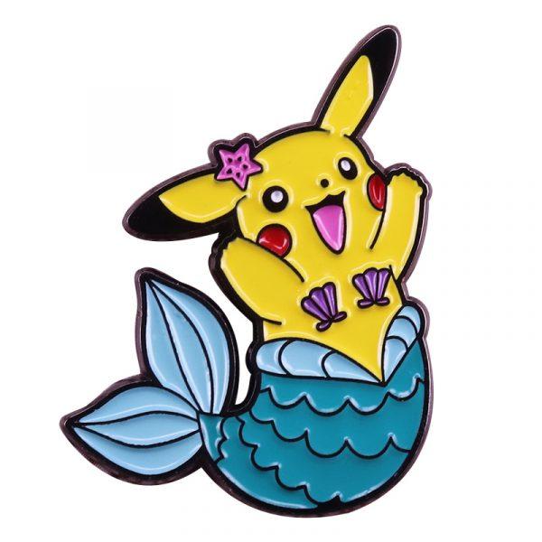 Pokemon Mermaid Pikachu Badge Pins
