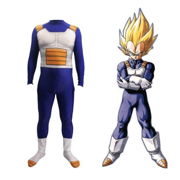 Dragon Ball Super Saiyan Vegeta Halloween Cosplay Costume