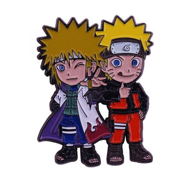 Naruto and Minato Badge Pins