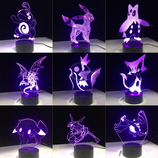 Pokemon 3D LED Night Light 11 Styles