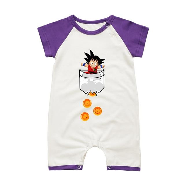Dragon Ball Son Goku Baby Onesies Short Sleeve 9 Styles