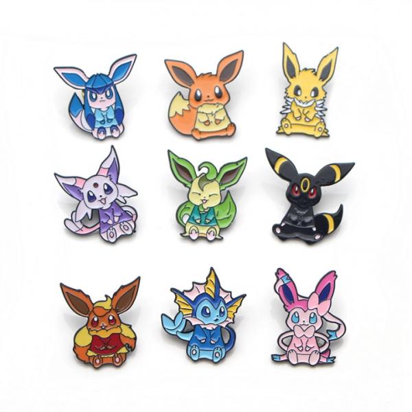 Pokemon Eevee Collection Badge Pins 9 Styles